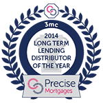 Precise Mortgages - Long Term Lending Distributer of the Year 2014